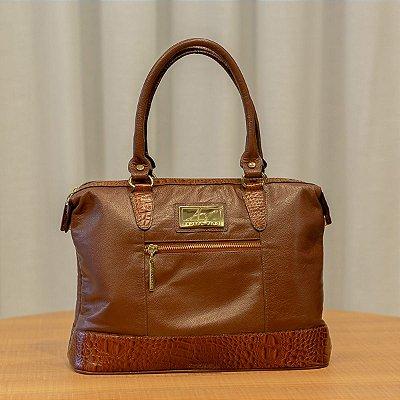Bolsa de couro legítimo Samantha pinhão