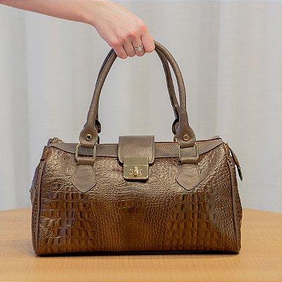 Bolsa de couro feminina Bethy chocolate