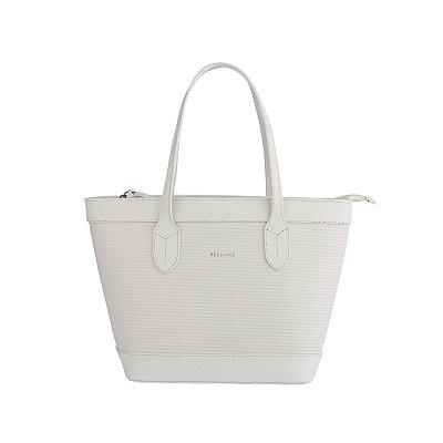 Bolsa estruturada de couro legítimo Marina branca