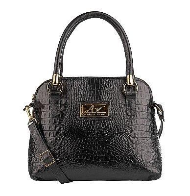 Bolsa de mão em couro Donna preta