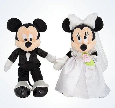 Mickey e Minnie noivos / Casamento Pelúcia Disney Parks