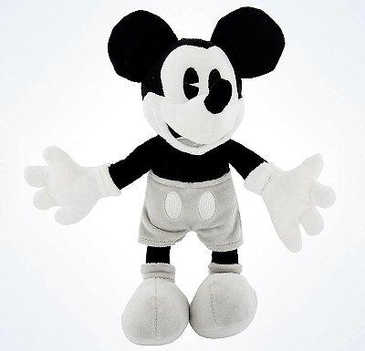 Mickey Vintage Preto e Branco de Pelucia