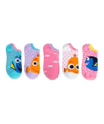 Kit com 5 meias Personagens Nemo Dory