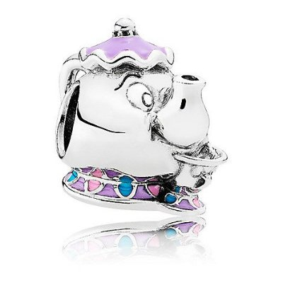 Berloque Pandora Mrs Potts e Chip / Madame Samovar e Zip