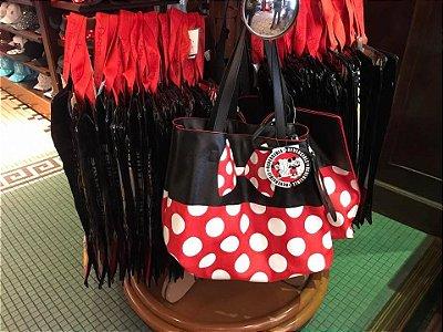 Bolsa Tote reversível Mickey e Minnie