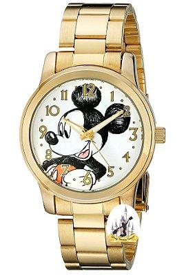 Relogio do Mickey dourado