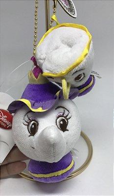 Chaveiro Mrs Potts e Chip / Madame Samovar e Zip Disney Store Japão