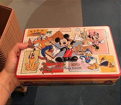 Lata de bolachinhas Mickey e amigos
