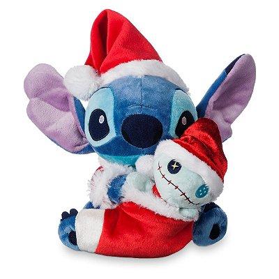 Pelucia Stitch e Shepa de Natal
