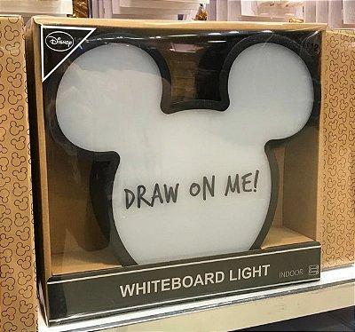 Quadro branco do Mickey com LED Primark