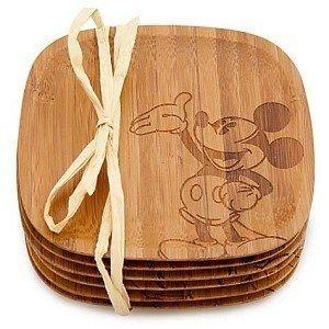 Porta Copos de Bambu Mickey