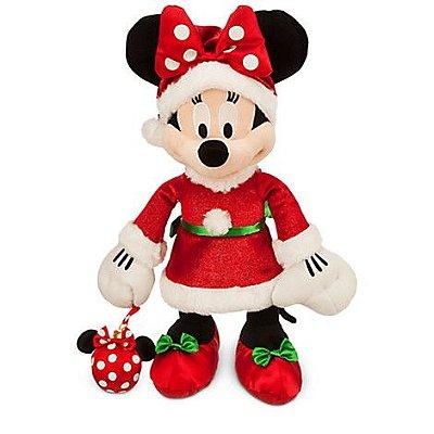 Minnie de Pelucia Mamãe Noel Disney Store