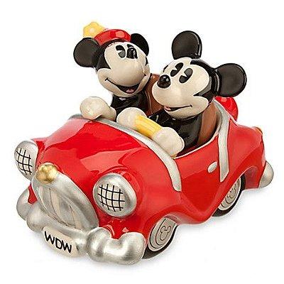 Saleiro e Pimenteiro Carro Mickey e Minnie Retro Disney Store