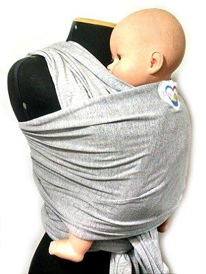 Wrap Sling em Cotton - Cinza Mescla