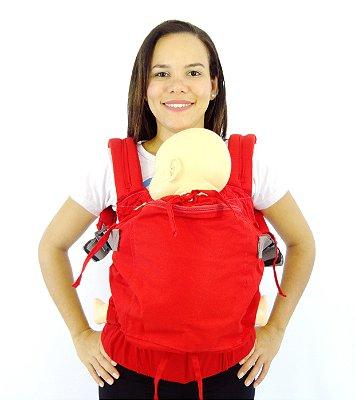 Daju Chila Ajustável - Mochila Evolutiva - Vermelha