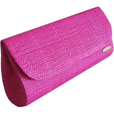 Clutch Bolsa Carteira de Mão em Palha Buriti Cor Pink