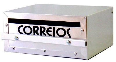 Caixa de correio Florini em alumínio retangular