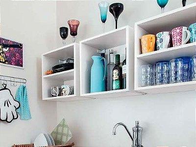 Nichos Para Sua Cozinha - Conjunto de 3 Nichos - 100% MDF -  Branco