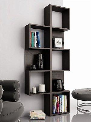 Estante de Nichos para Livros - Decore e Organize o Ambiente - 100% MDF 18mm