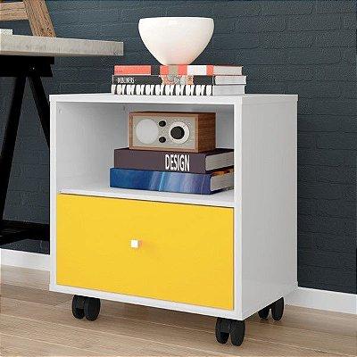Mesa de Cabeceira com Gaveta e Rodas - Escolha sua cor! - 100% MDF 18mm