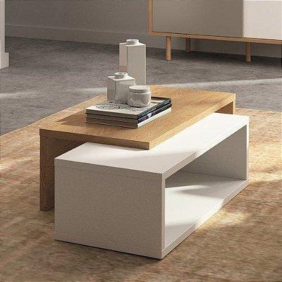 Mesa de centro em madeira MDF - Combinação de duas cores - 18mm