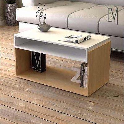 Mesa de centro - Duas cores - Madeira MDF 18mm