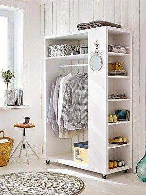 Mini Closet com rodas para pequenos ambientes - 100% MDF