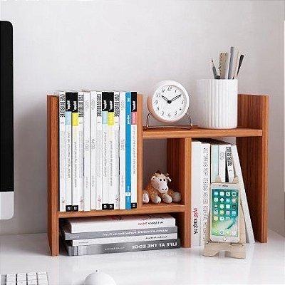 Suporte de Livros em madeira para mesa - Organizador de obejtos para Mesa - 100% MDF - Escolha a cor
