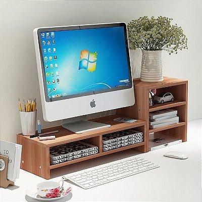 Organizador de mesa em madeira - MDF 18mm - Opçãop de cores