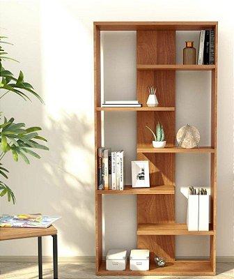 Estante Biblioteca para Ambientes Pequenos - 100% MDF 18mm