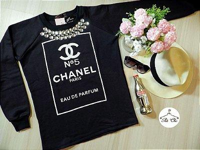 Moletom Chanel || Bordado [ Preto ]