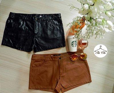 Shorts de Couro [ Fake || Sintético ] Cores: Preto e Caramelo