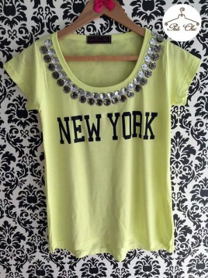 T-shirt New York [ Amarela ] Bordada {{Manga Curta}}