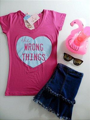 T-shirt Coração Candy Color [ Rosa + Azul ] The Wrong Things || Petit Rosè