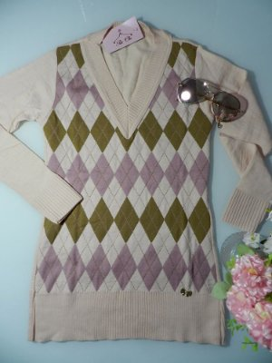 Blusa de Tricot Escocesa | Xadrez [ Modal ] Rosa Claro + Marrom e Rosa Médio