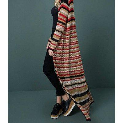 Sobretudo de Tricot com Listras | Stripes