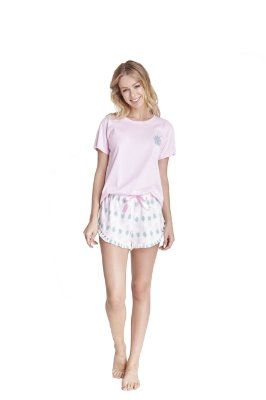 Short Doll | Pijama Tee Manga Curta - Love Summer [ Pineapple ]
