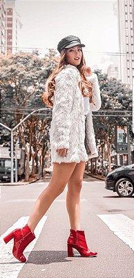 Casaco de Pelo Miami [ Off White ] - Veste 38, 40 e 42