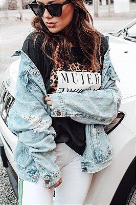 Maxi Jaqueta Jeans Diva