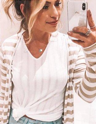 T-shirt Basic Nó | Cores: Branca, Verde e Rosa - Petit Rosè