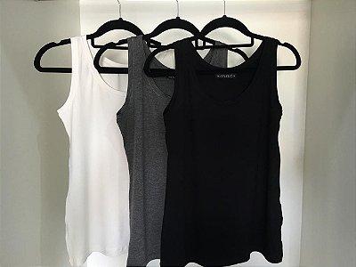 Regata Basic | Cores: Cinza, Preta e Off White