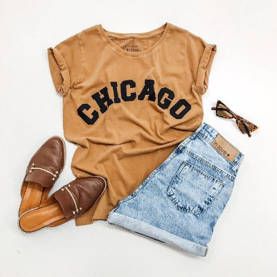 T-shirt Chicago | Cor: Camel