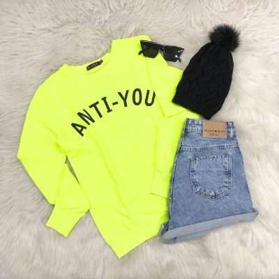 Moletom Anti-You | Amarelo Neon