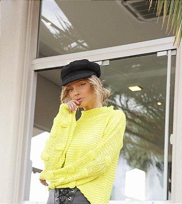 Blusa de Tricot Amarela Neon | Golinha