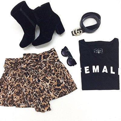 Shorts Saia Leopard | Animal Print