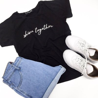 T-shirt Shine Together | Preto - In Love