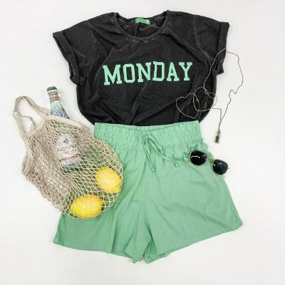 T-shirt Monday | Cinza + Verde - In love