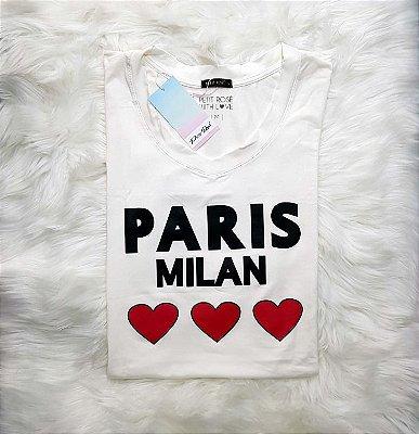 T-shirt Paris Milan - Off White | Petit Rosè
