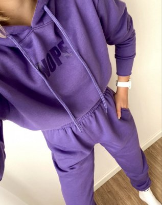 Conjunto de Moletom Together Roxo | Peluciado - In Love - Unissex