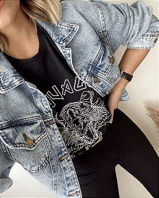 T-shirt Over Savage (Selvagem) Preta   In Love
